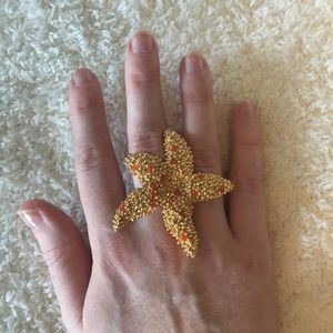 BCBG adjustable starfish ring. Excellent condition
